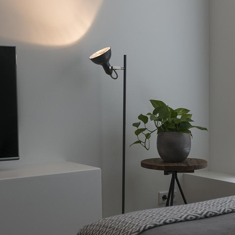 Moderne vloerlamp donkergrijs - Tommy 1