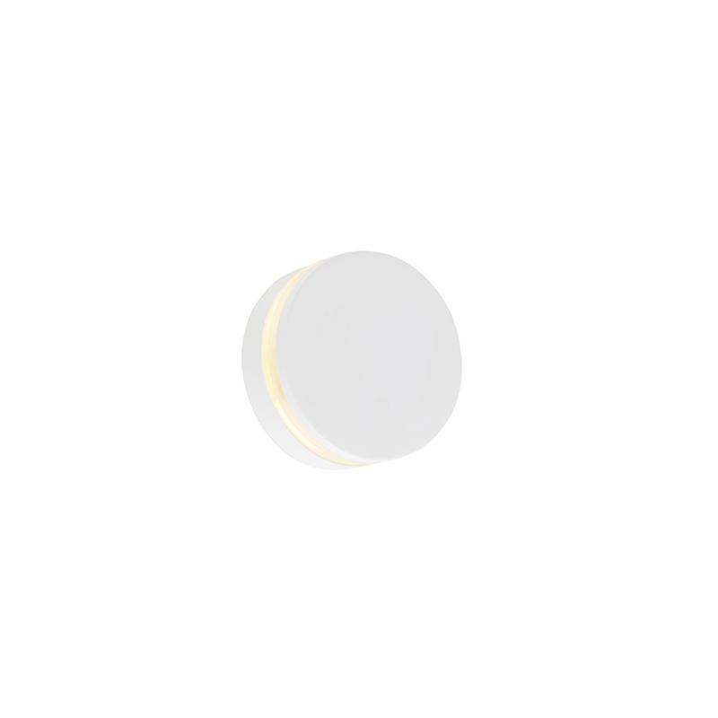 Nowoczesny kinkiet biały LED IP44 - Theo Round
