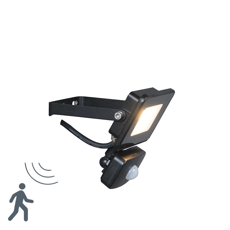 LED Strahler Radius 1 10W PIR schwarz