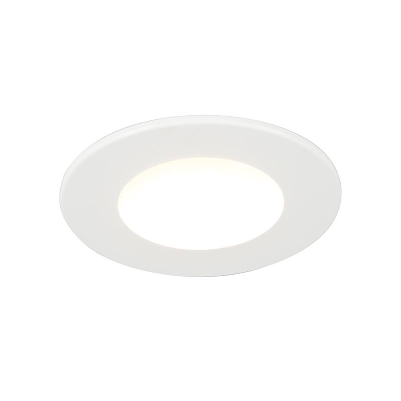 Set van 3 badkamer inbouwspots rond LED 5W wit waterdicht - Blanca