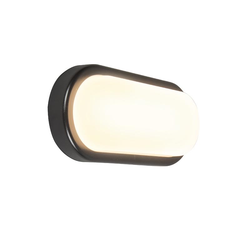 Wandlamp United 18W ovaal zwart