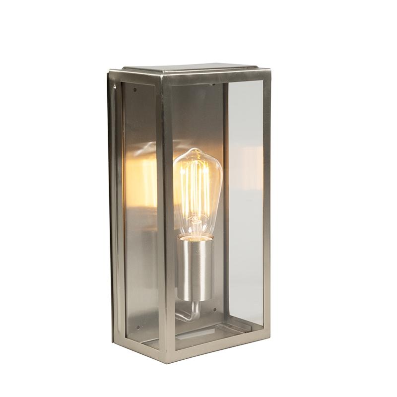 Moderne rechthoekige buitenwandlamp staal IP44 - Rotterdam 1