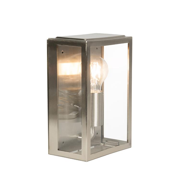 Moderne rechthoekige buitenwandlamp staal IP44 - Rotterdam 2