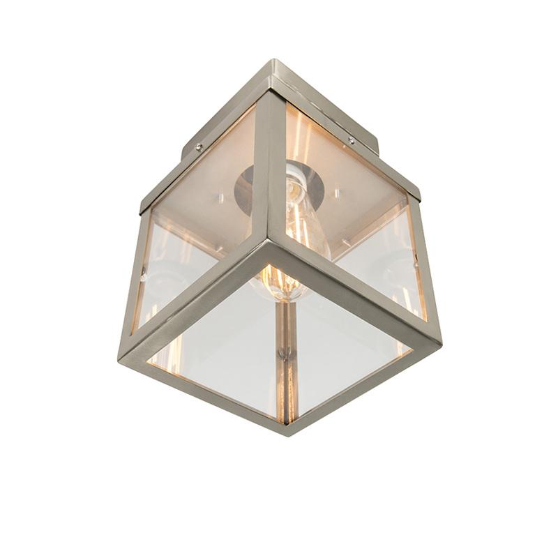 Moderne buitenplafondlamp staal 1-lichts - Rotterdam