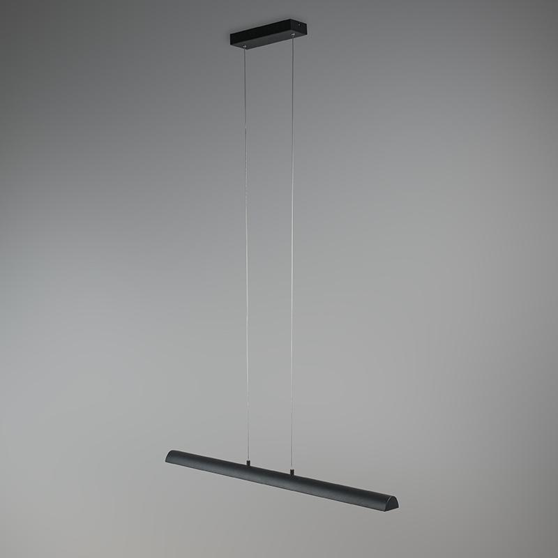 Hanglamp zwart met gouden binnenkant incl. LED – Balo 4