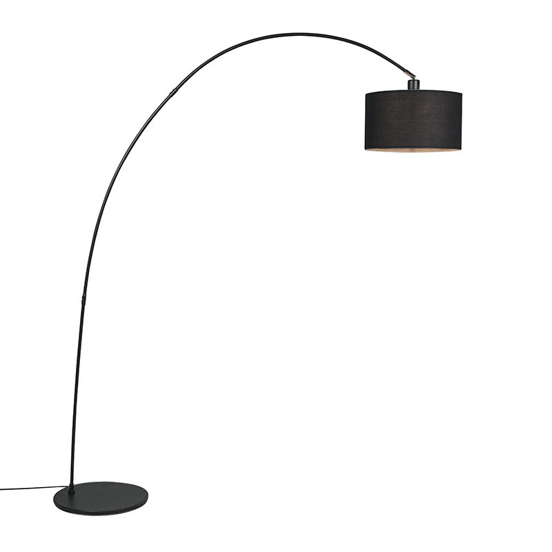 Moderne booglamp zwart - Vinossa
