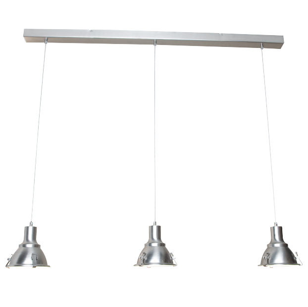 Industriële hanglamp staal - Parade 3