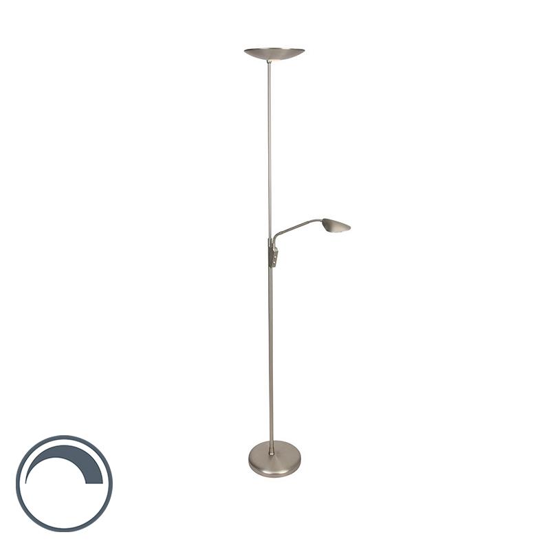 Steinhauer Vloerlamp Safira LED mat-chroom