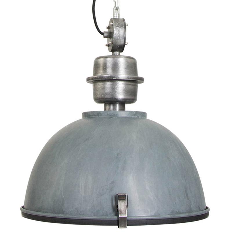 Industriële Hanglamp Beton-grijs Met Blank Staal - Gospodin