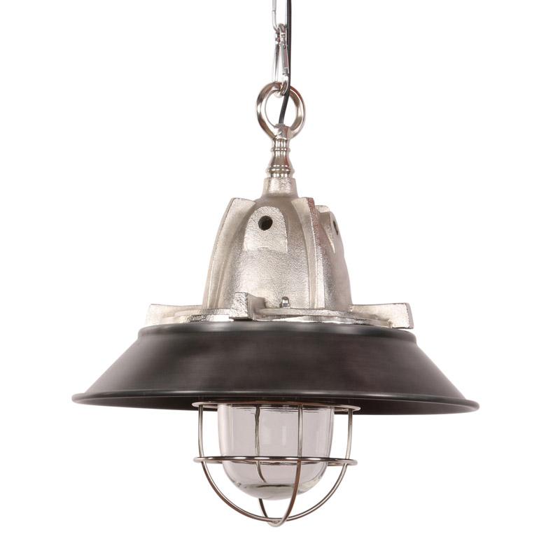 Przemysłowa lampa wisząca czarna z aluminium - Floris