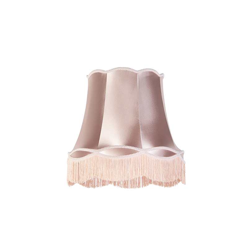 Klosz jedwabny różowy 45 cm - Granny