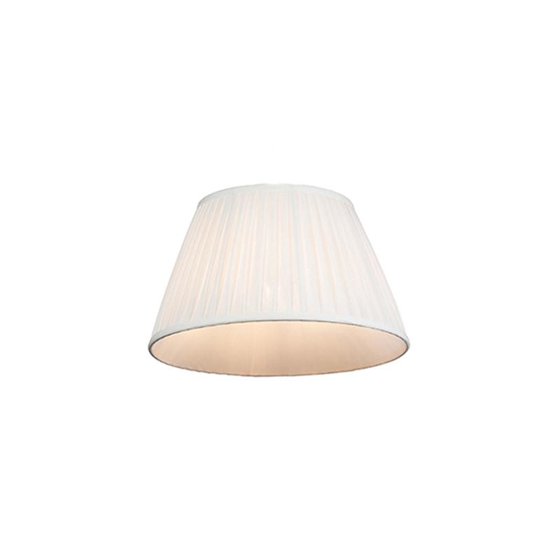 Plisse lampenkap wit 35/20 cm