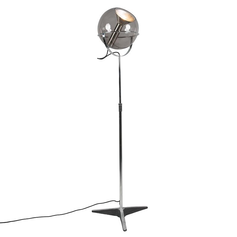 Lampa podłogowa retro regulowana w kolorze czarnym - Strike