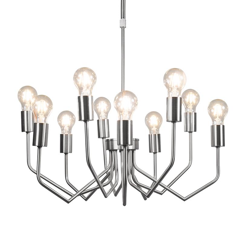 Hanglamp Ritz 10 staal