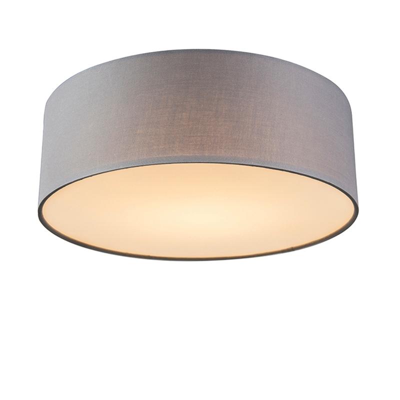 Plafondlamp grijs 30 cm incl. LED - Drum LED