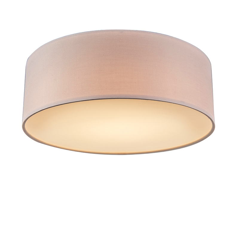 Plafon LED różowy 30cm - Drum LED