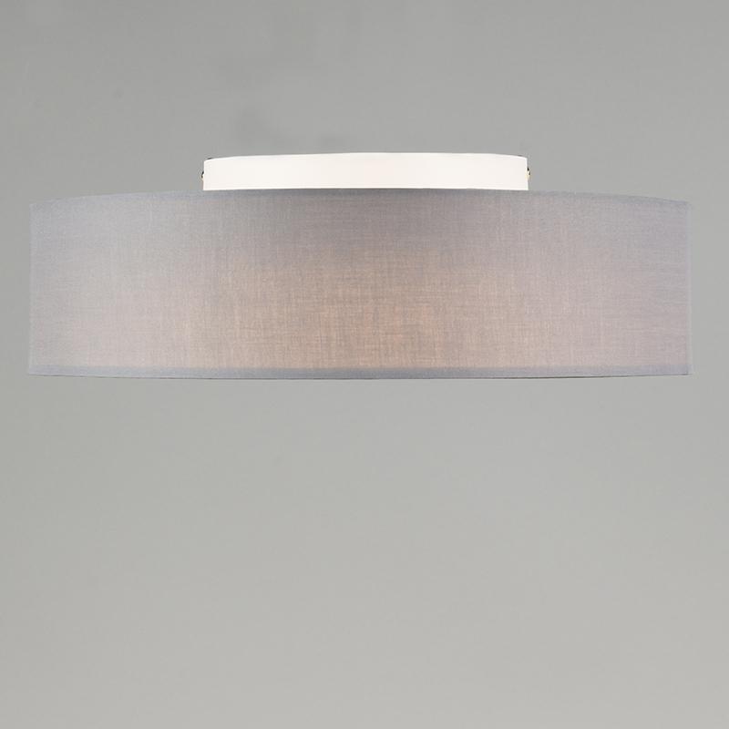 Plafonniere Drum LED 40 grijs