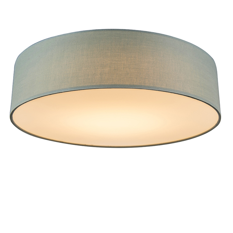 Plafondlamp groen 40 cm incl. LED - Drum LED