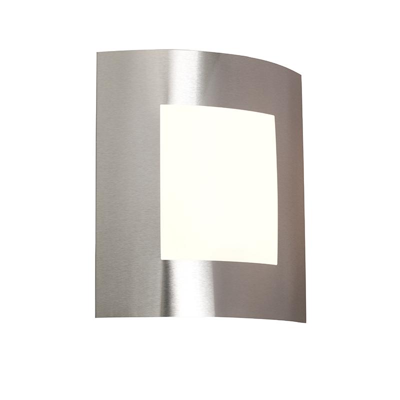 Moderne wandlamp staal IP44 - Emmerald 1