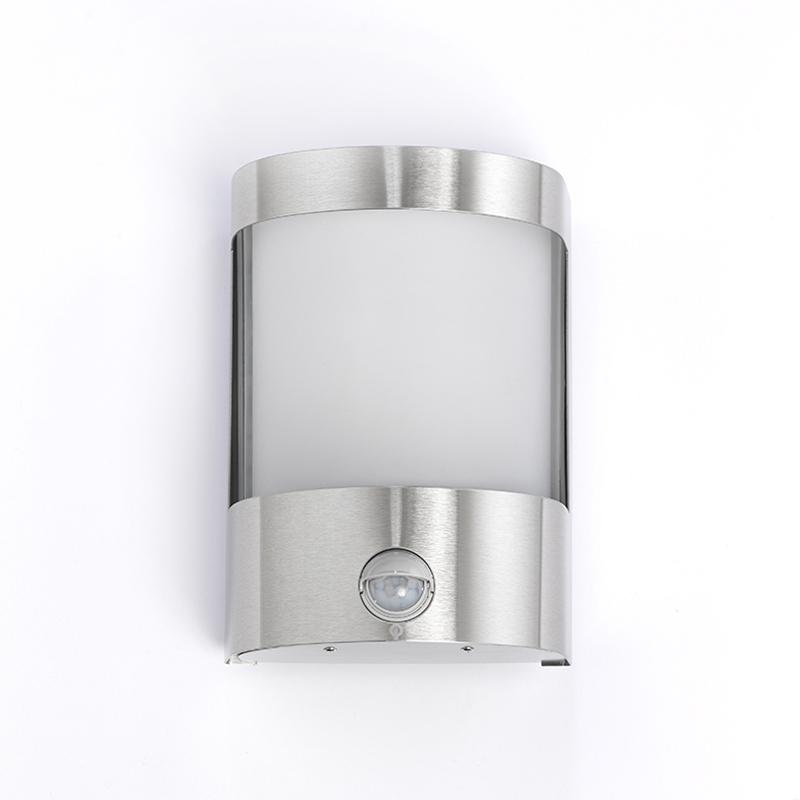 Wandlamp Mira RVS bewegingssensor