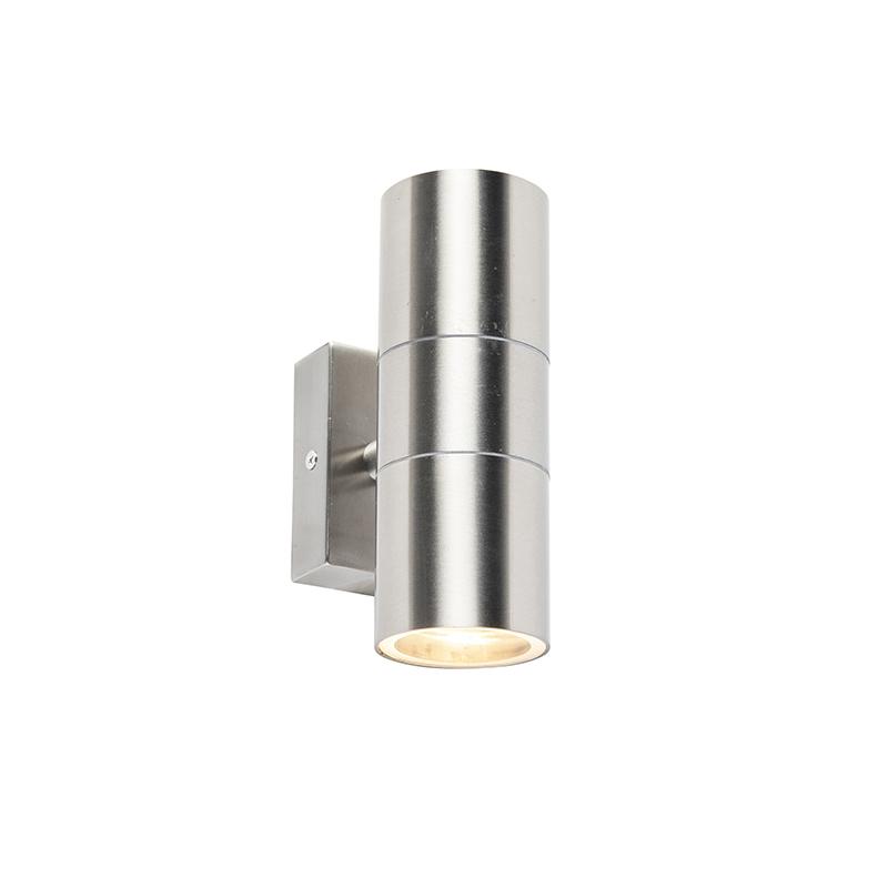 Venkovní nástěnné svítidlo ocel IP44 - Duo