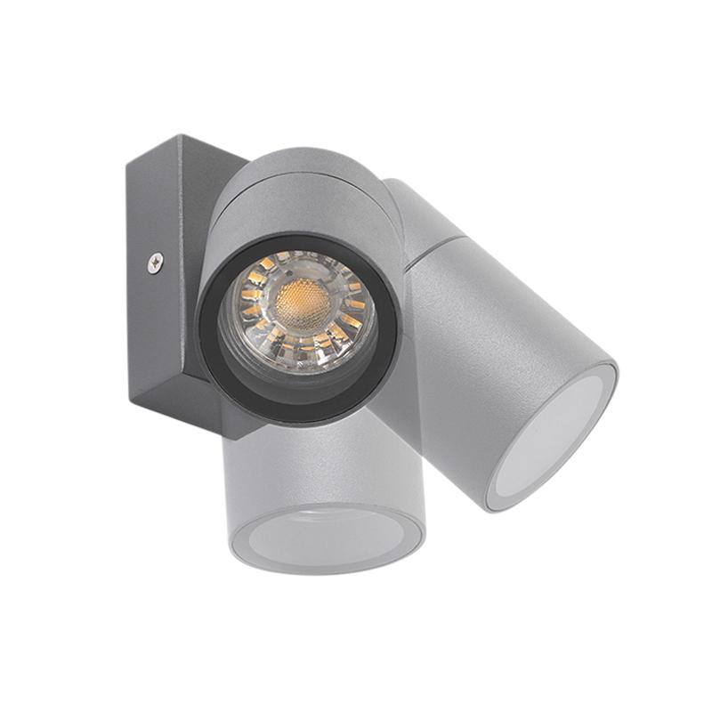 Buitenwandlamp antraciet IP44 draai- en kantelbaar - Solo