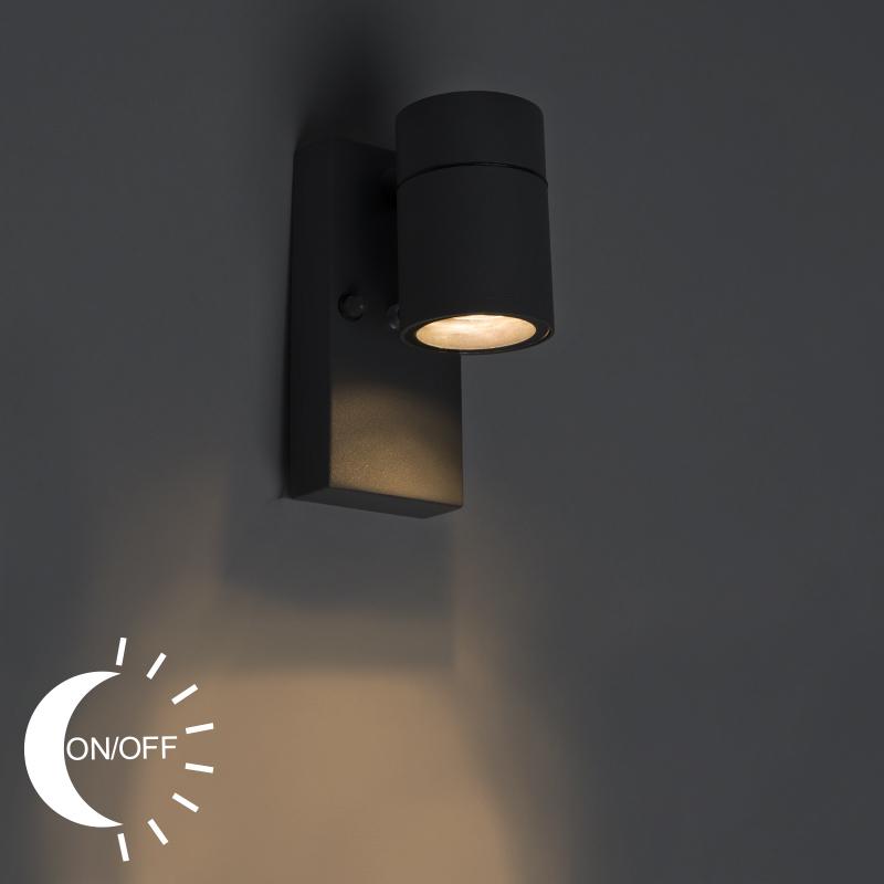 Buitenwandlamp Grijs Met Licht-donker Sensor - Solo