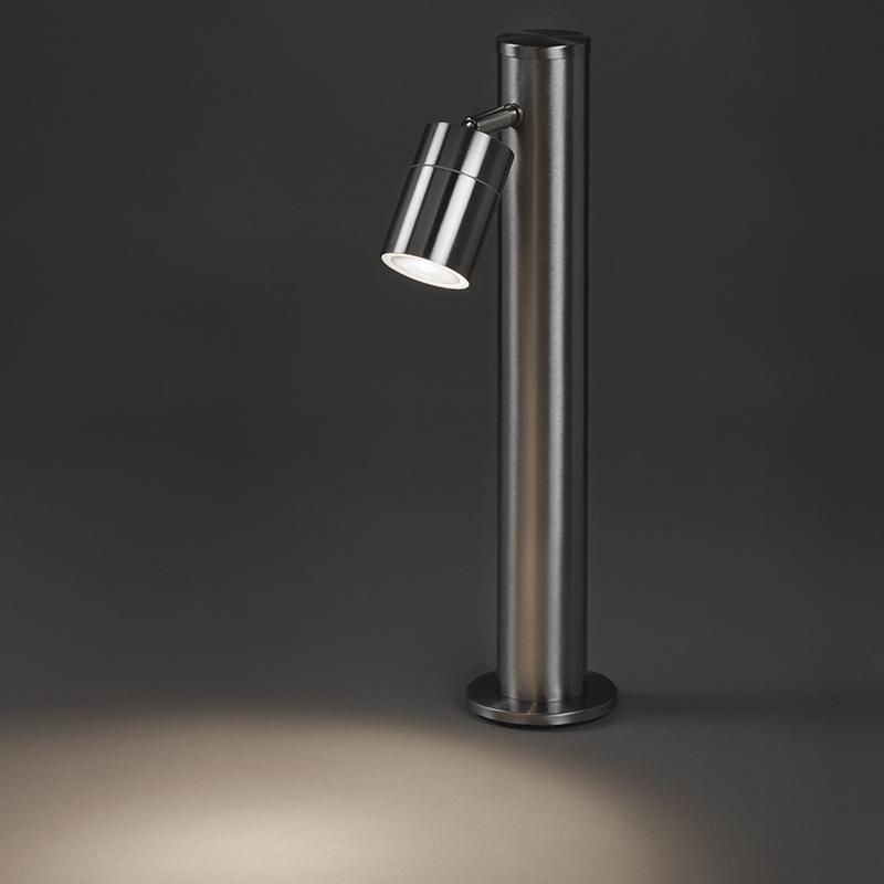 Nowoczesna lampa zewnętrzna stal 45cm regulowana - Solo