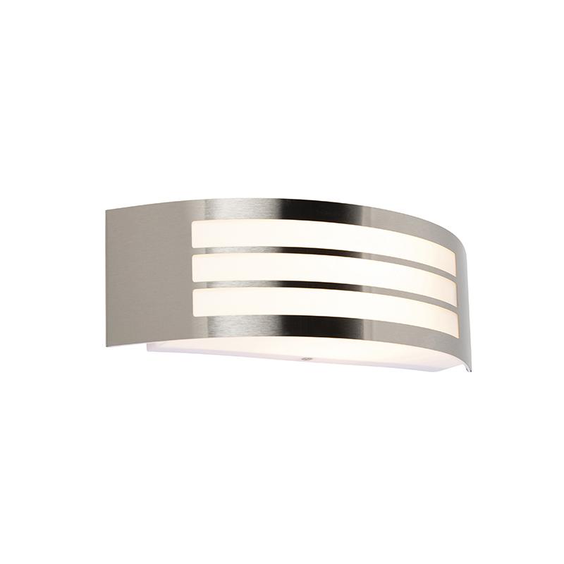 Moderne wandlamp staal RVS IP44 - Sapphire Deluxe