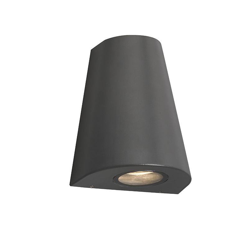Moderne wandlamp donker grijs IP44 - Dreamy