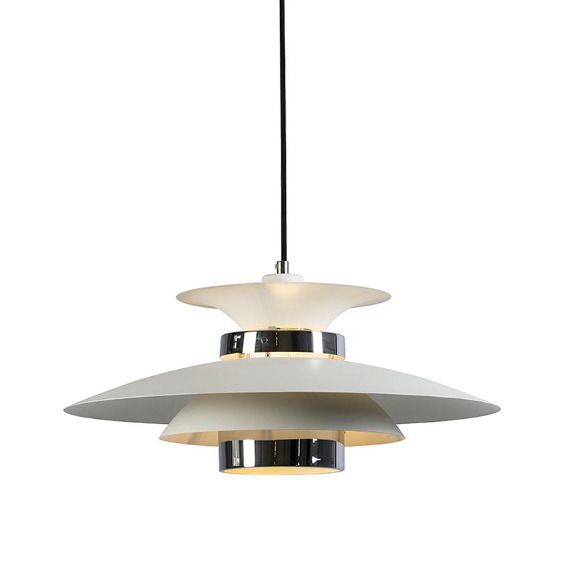 Hanglamp Risco wit met chroom