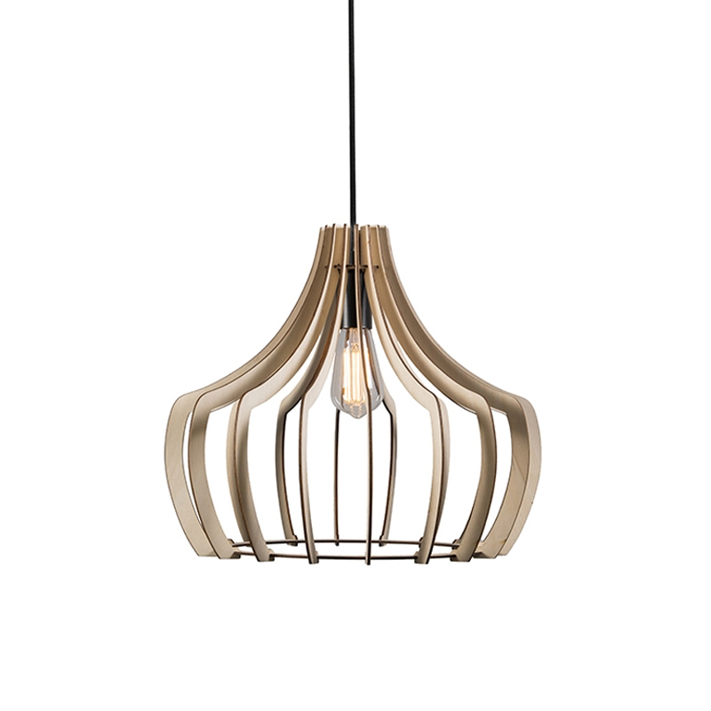 Designerska lampa wisząca z drewna - Twan