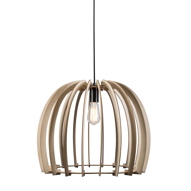 Design hanglamp rond hout - Twan