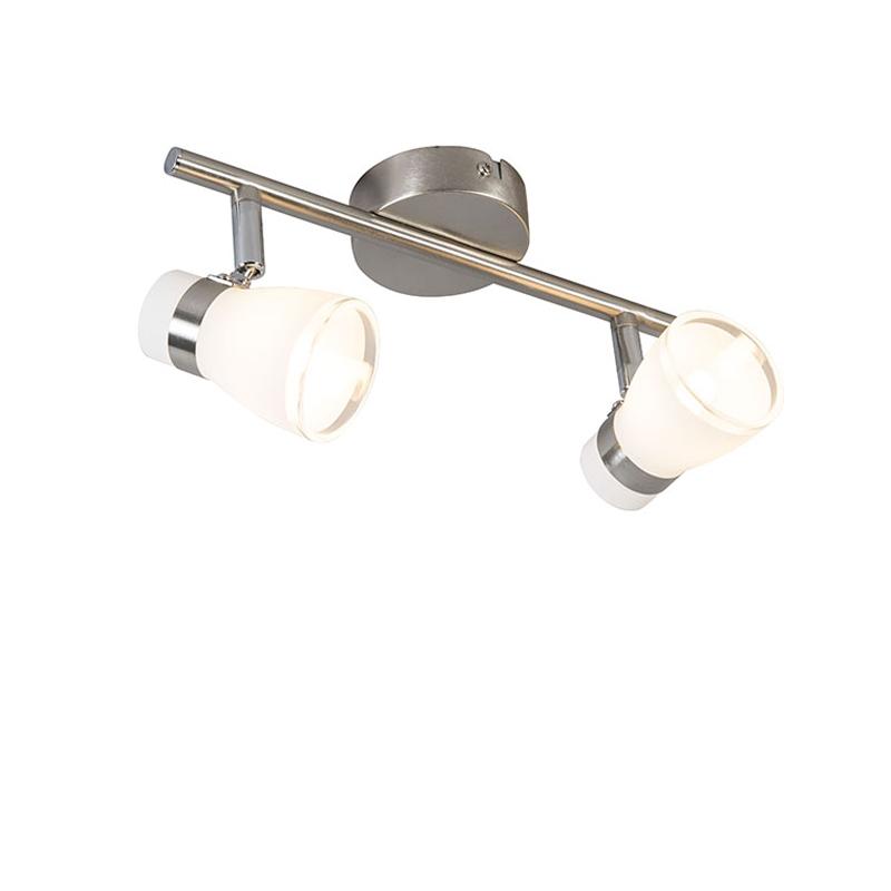 Deckenstrahler Nadia 2 stahl | Lampen > Strahler und Systeme > Strahler und Spots | Weiß - Stahl | Metall | Trio Leuchten