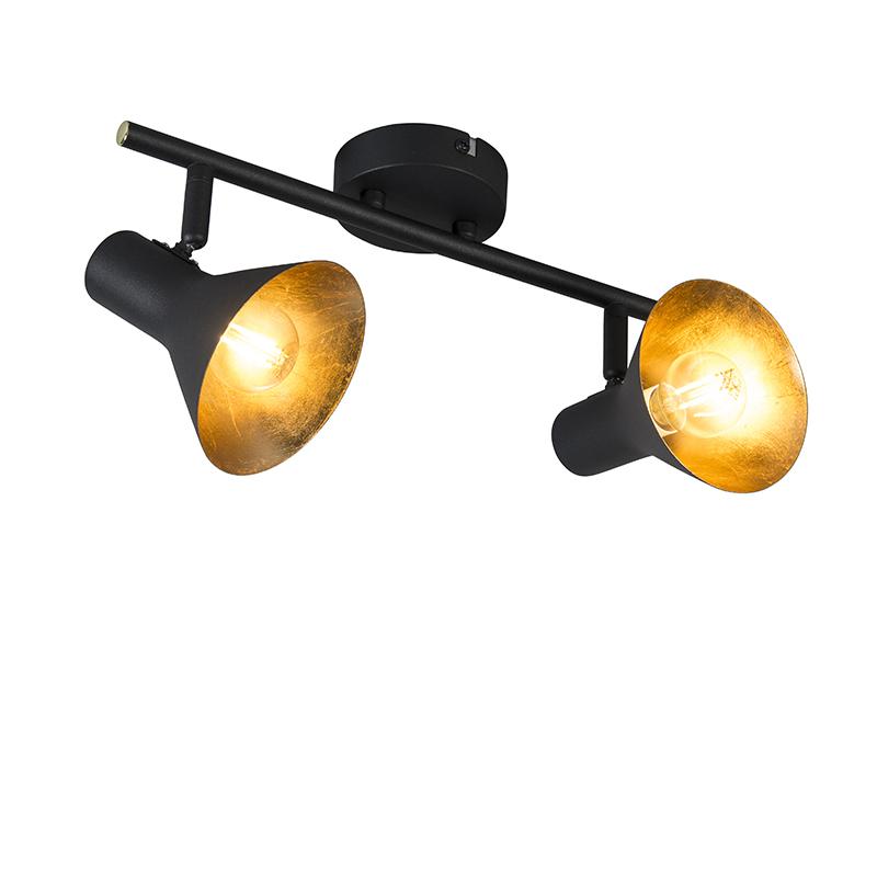 Moderne spot zwart 2-lichts - Magno