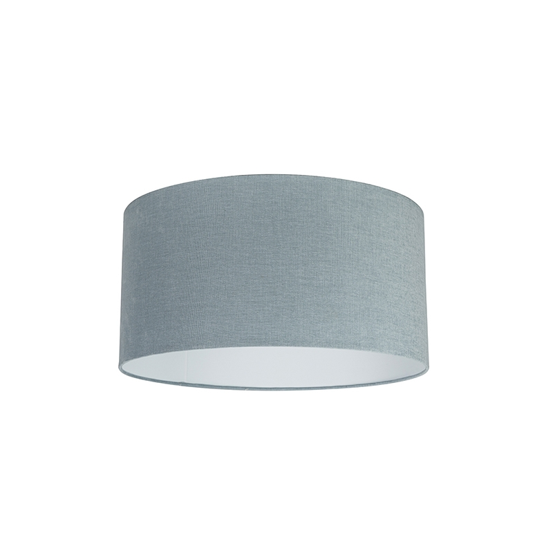 Stoffen lampenkap lichtblauw 50/50/25