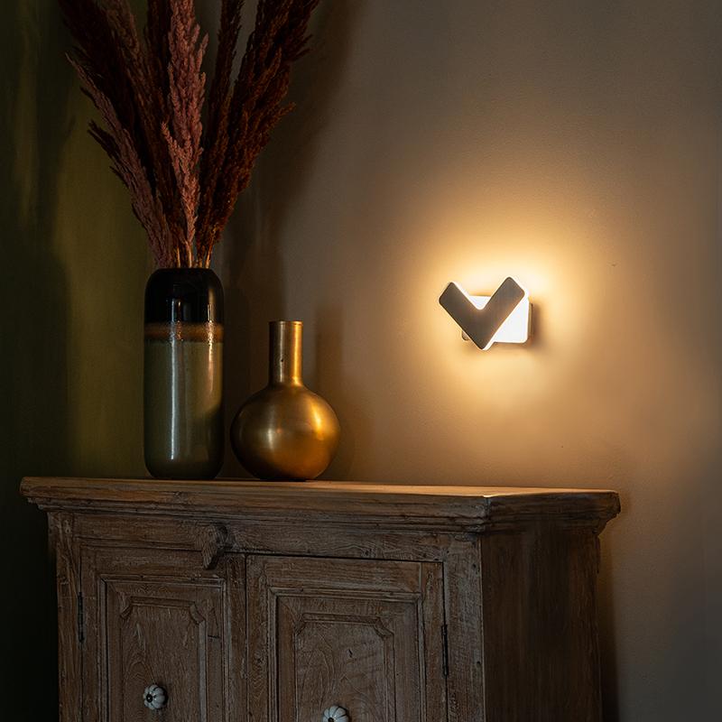 Moderne wandlamp LED staal - Check