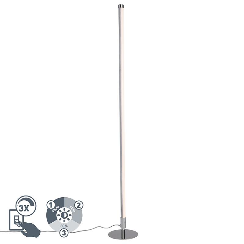 Moderne vloerlamp LED chroom - Line-up
