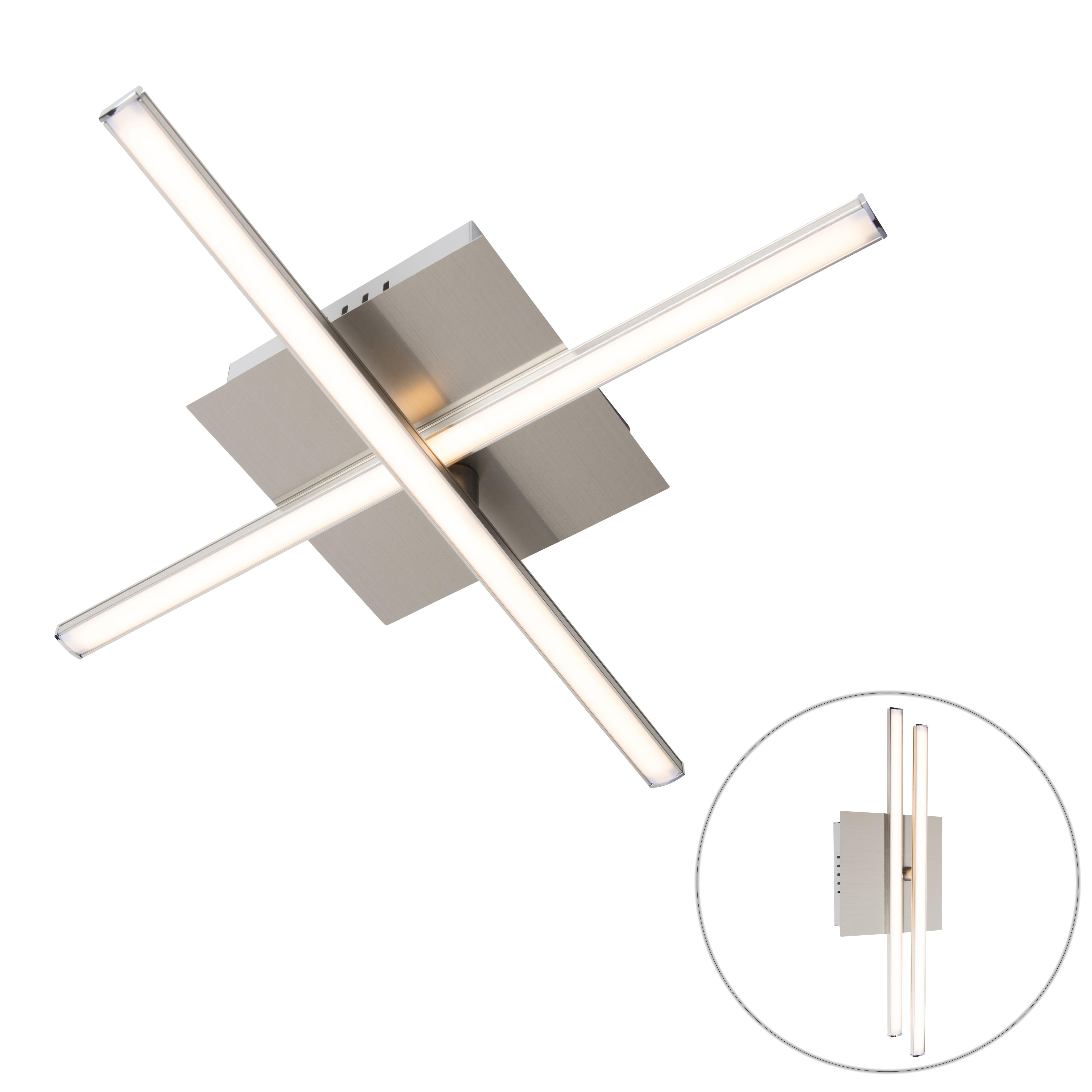 Moderne plafondlamp staal LED draaibaar - Cruz