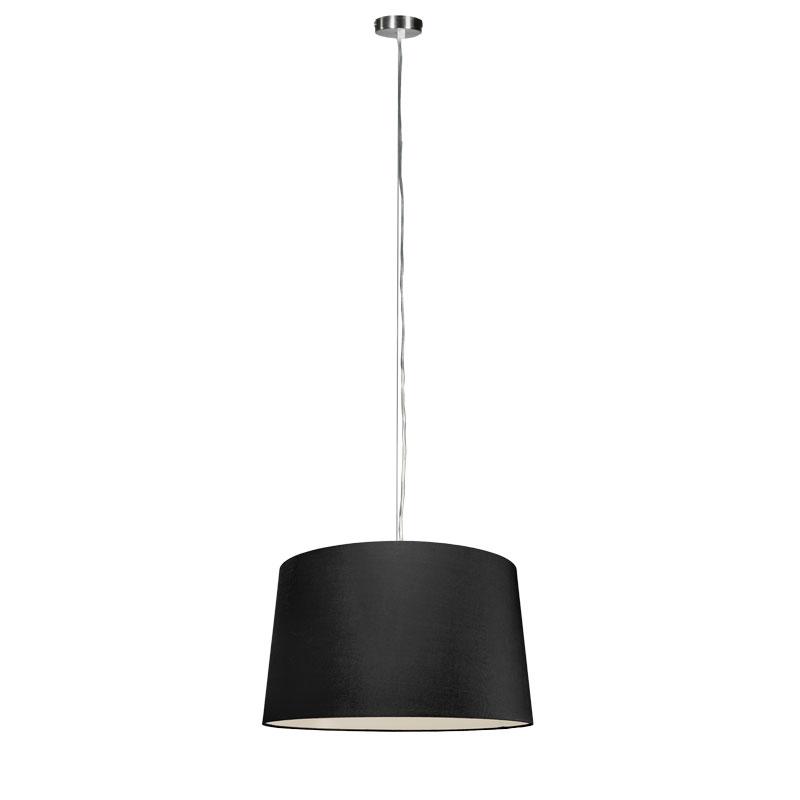 Moderne hanglamp staal met kap 45 cm zwart - Cappo 1