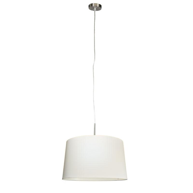 Moderne hanglamp staal met kap 45cm wit - Combi 1