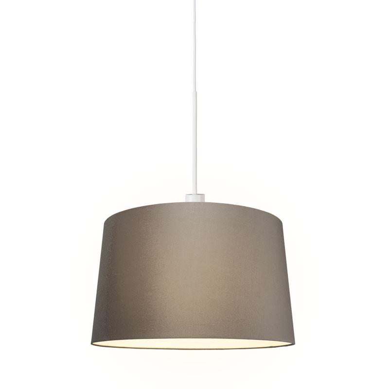 Moderná závesná lampa biela s tienidlom 45 cm tupá - Combi 1