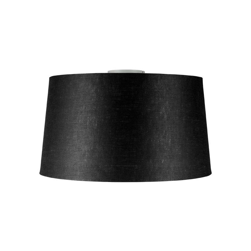 Plafondlamp Combi mat wit met kap 45cm zwart