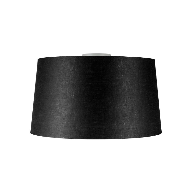 Plafondlamp Combi wit met kap 45cm zwart