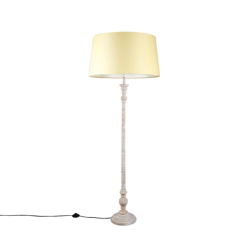 Vloerlamp Classico grijs met kap 45cm creme