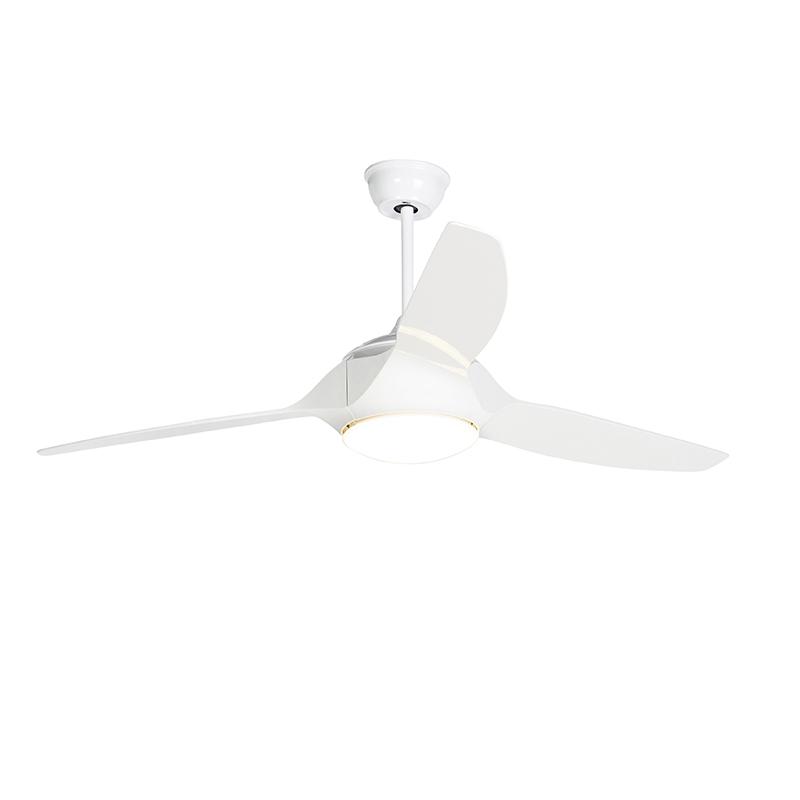Plafondventilator wit incl. LED met afstandsbediening - Marin 56