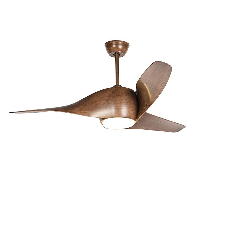 Wentylator sufitowy LED brązowy z pilotem - Sirocco 50