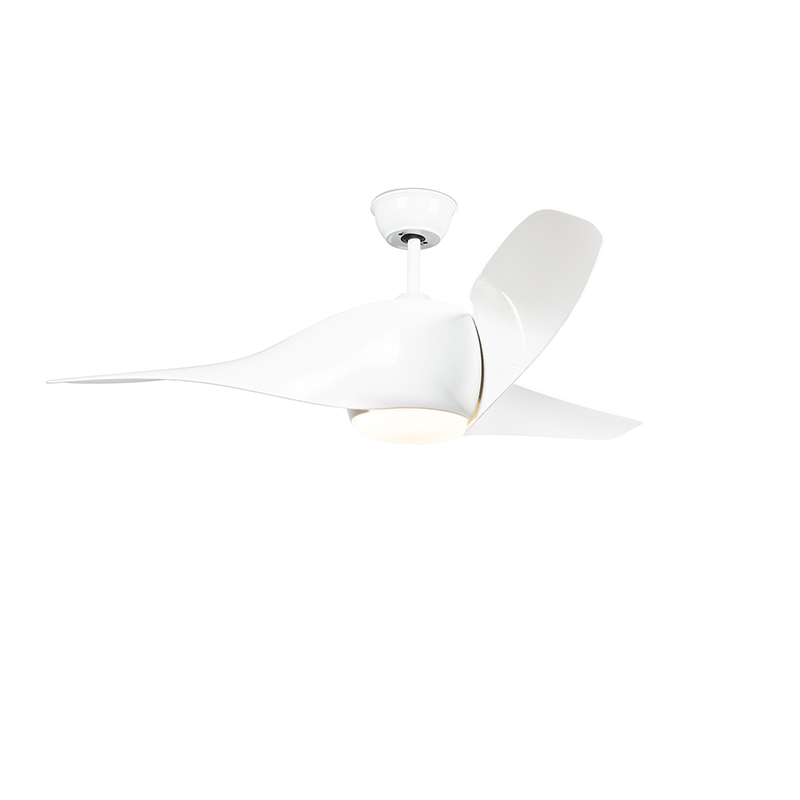 Wentylator sufitowy LED biały z pilotem - Sirocco 50