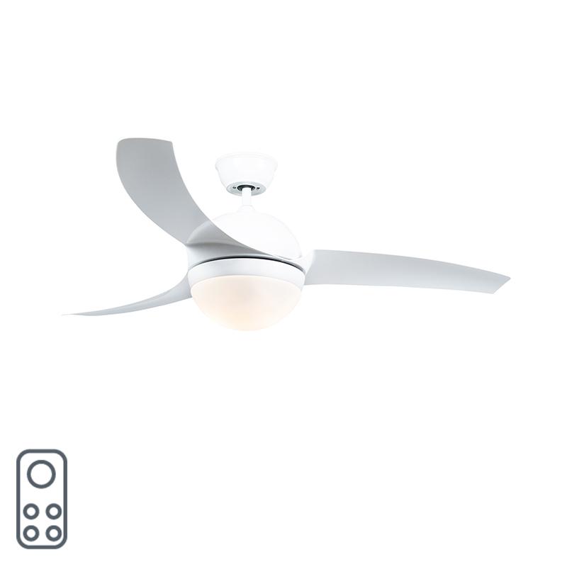 Plafondventilator wit met afstandsbediening - Bora 52