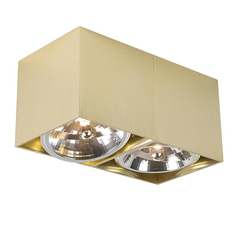 Bild av Plafond Spotlight / strålkastare 'Box 2' Moderna guld/aluminium Inomhus